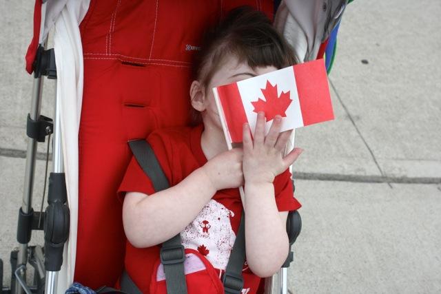 Sister really loves Canada